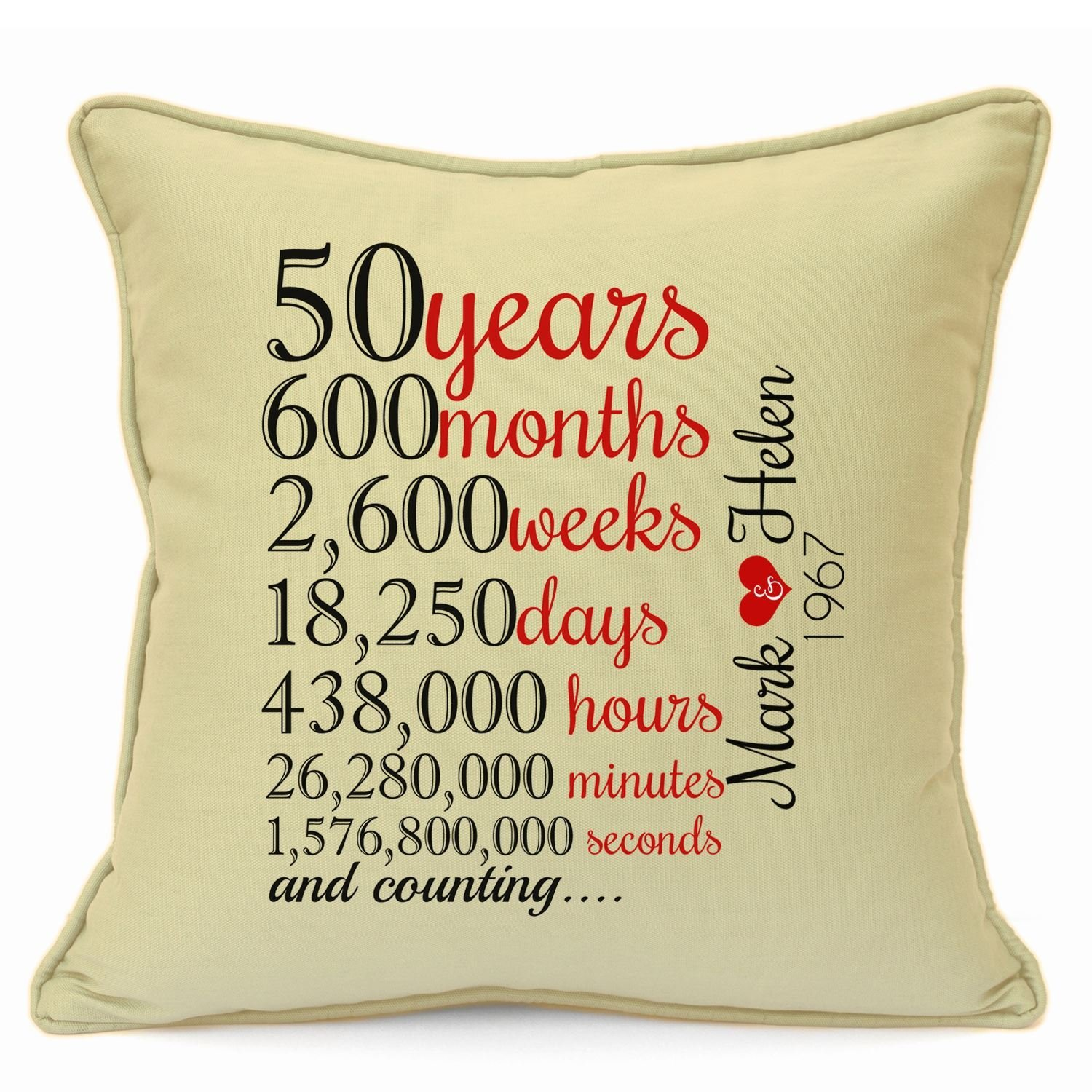 Birthday Wedding Anniversary Personalised Gifts For Him Her Husband Cushion 18